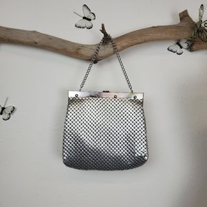 Whiting and Davis oversized metal mesh purse